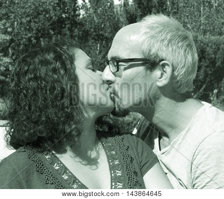 Couple In Love Kissing.happy Couple