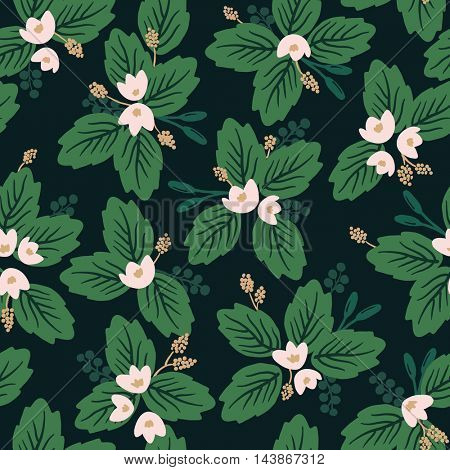 Seamless Lotus pattern, vector illustration