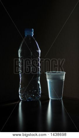 Bottle And Glass - Vertically