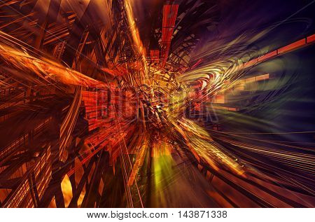 Technology Background. 3d rendering