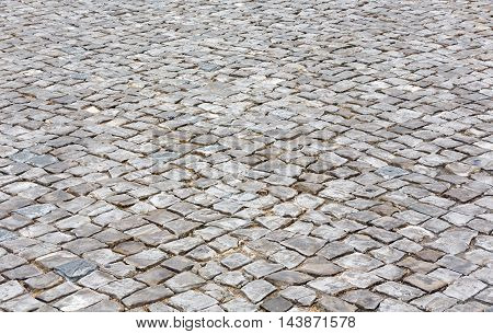 Cobbled Road As Background.