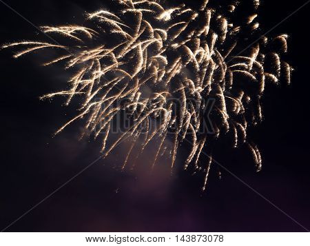 image of fireworks in the night sky