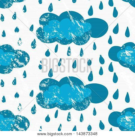 Rough Brush Blue Rainy Clouds