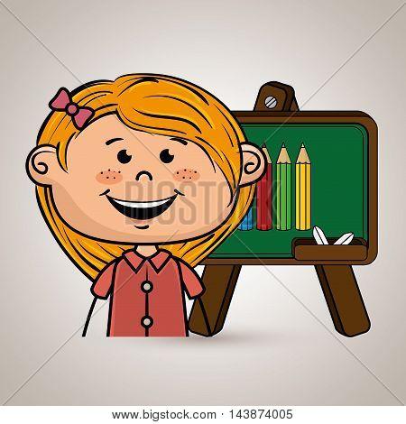 student board cartoon color vector illustration design eps 10