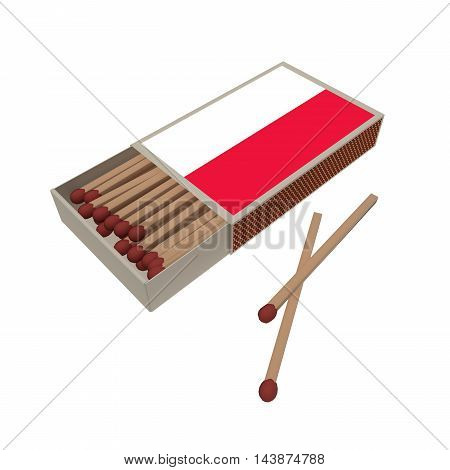 Poland Flag Matchbox With Matches Isolated On A White Background 3d illustration