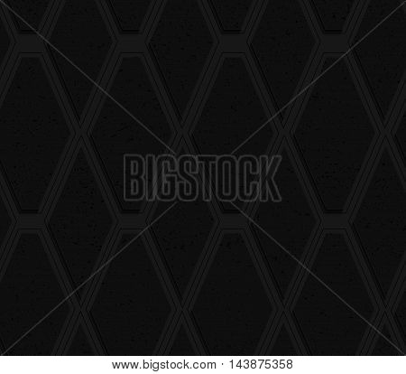 Black Textured Plastic Diamonds With Black Line Layering