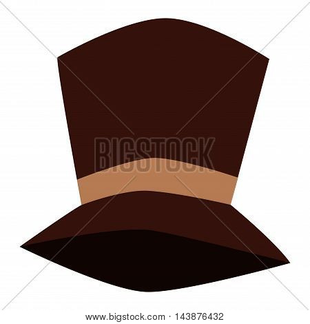 Cylinder black gentleman hat male costume retro culture. Vector history clothing shiny tall hat vintage accessory. Classic gentleman traditional icon tall hat elegance topper aristocrat symbol.