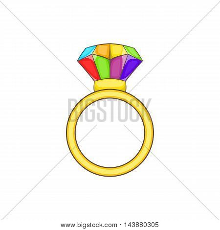 Ring LGBT icon in cartoon style isolated on white background. Tolerance symbol