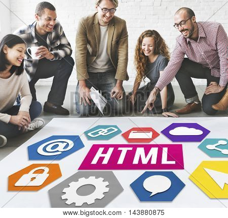 HTML Website Technology Homepage Concept