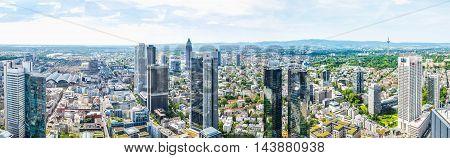 Frankfurt Am Main Panorama (hdr)