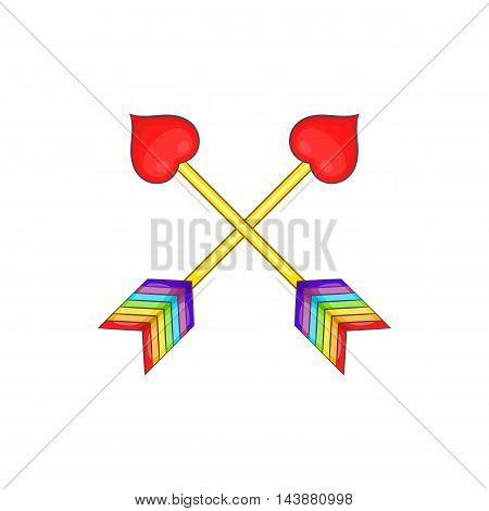 Two arrows LGBT icon in cartoon style isolated on white background. Tolerance symbol