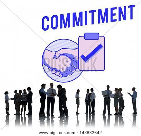 Business Contract Partnership Handshake Tick Concept