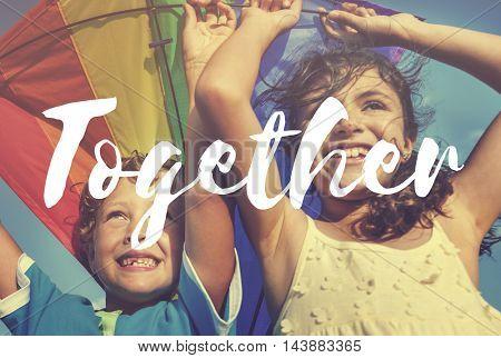 Siblings Summer Fun Vacation Concept