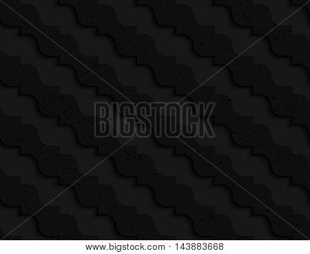 Black Textured Plastic Diagonal Pointy Waves