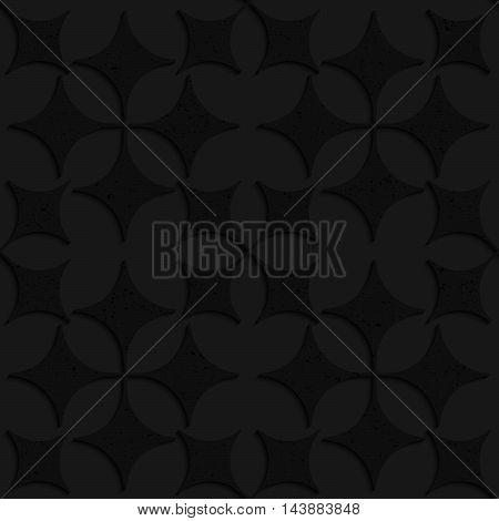 Black Textured Plastic Pointy Four Foils