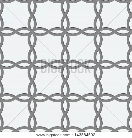 Perforated Four Foils Forming Squares