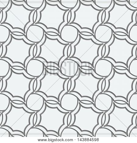 Perforated Four Foils Forming Twisted Squares