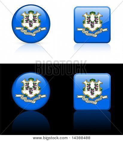 Icono de Connecticut en Internet botón Original Vector ilustración AI8 Compatible