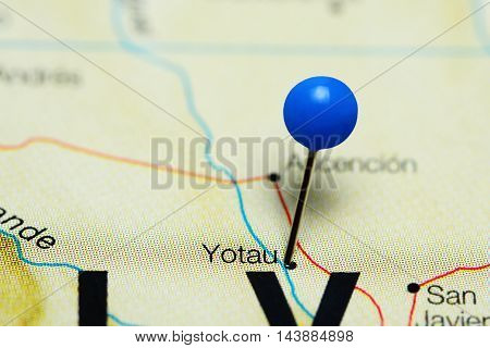 Yotau pinned on a map of Bolivia