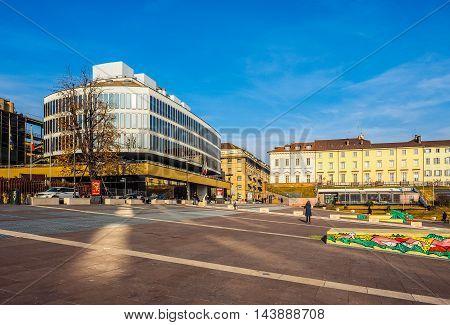 Piazzale Valdo Fusi In Turin (hdr)