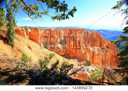 Morning sunrise at Bryce Canyon National Park amphitheater