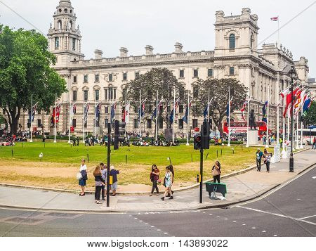 Parliament Square In London (hdr)