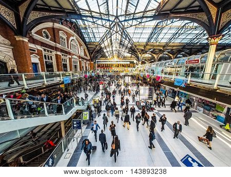 Liverpool Street Station In London (hdr)