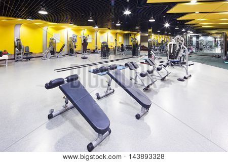 design and equipment in modern gym