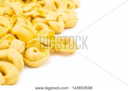 italian food tortellini on a white background