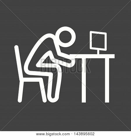 Sleepy, worker, exhausted icon vector image. Can also be used for people. Suitable for use on web apps, mobile apps and print media.