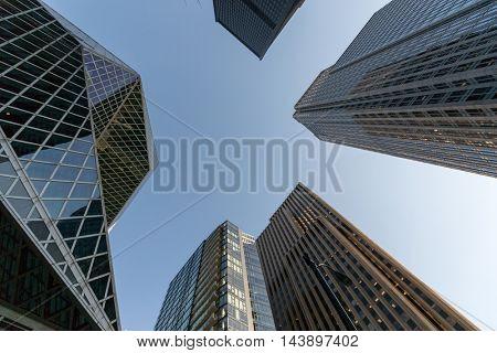 SEATTLE , USA - DECEMBER, 01, 2013: Skyscraper bottom view