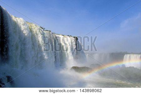 Iguaza Falls the fourth wonder of the world