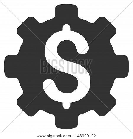 Industrial Capital icon. Vector style is flat iconic symbol with rounded angles, gray color, white background.