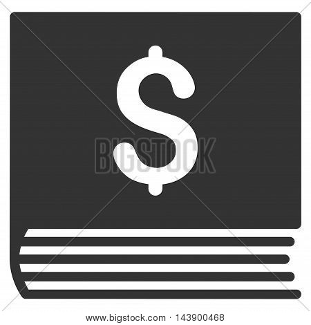 Sales Book icon. Vector style is flat iconic symbol with rounded angles, gray color, white background.