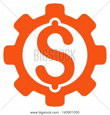 Payment Options icon. Vector style is flat iconic symbol with rounded angles, orange color, white background.