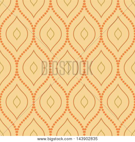 Seamless orange ornament. Modern geometric pattern with repeating elements