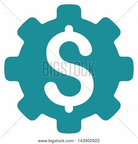 Industrial Capital icon. Vector style is flat iconic symbol with rounded angles, soft blue color, white background.