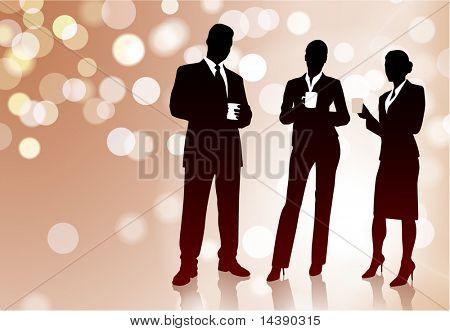 Business Team on Coffee Break Original Vector Illustration EPS10