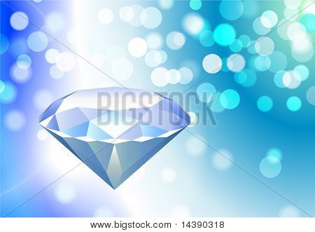 Priceless Diamond on Abstract Lens Flare Background Original Vector Illustration EPS10