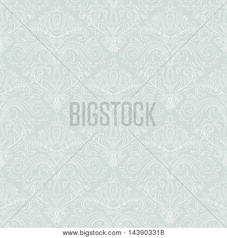 Oriental classic pattern. Seamless abstract background with repeating elements, Light blue and white pattern