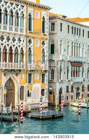 Beautiful gothic palace on Grand canal in Venice