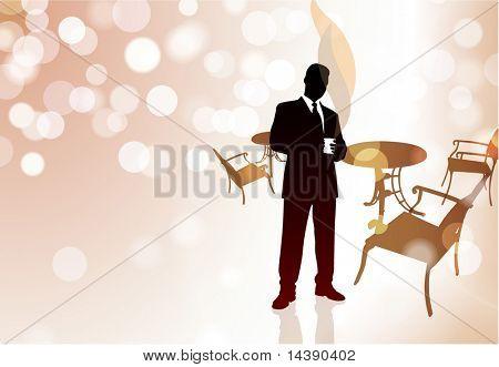 Businessman on Coffee Break Original Vector Illustration EPS10
