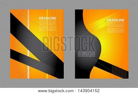 Magazine or brochure, vector design smooth wave curve lines and circles. Abstract background.