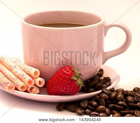 Coffee And Beans Means Beverage Aromatic And Delicious