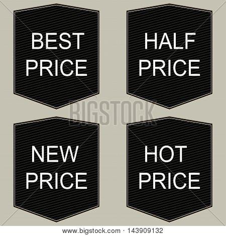 Best half new hot price tags set Black labels