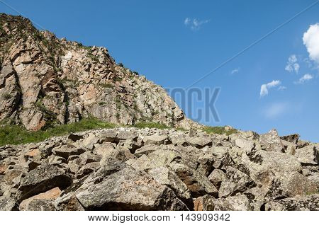 Kazakhstan, The Tien Shan Mountains. Trans-ili Alatau. High Plateau Assy. Rocks Scattering Of Stones