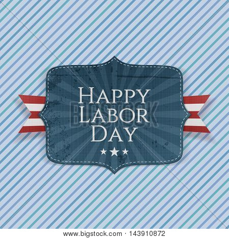 Happy Labor Day Text on paper Emblem