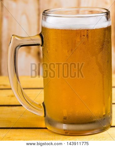 Beer In Glass Represents Ales Alcoholism And Beers