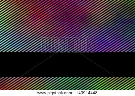 Illustration of a multicolor smoky background with banner and diagonal stripes