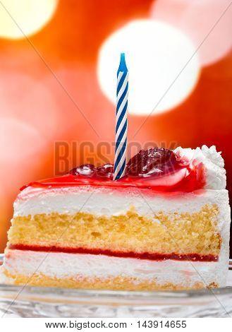 Birthday Cream Cake Indicates Desserts Celebrate And Birthdays